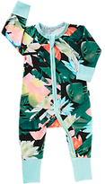 Bonds Baby New Era Abstract Floral Print Wondersuit Sleepsuit, Black