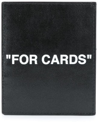 Off-White Embossed Leather Card Holder