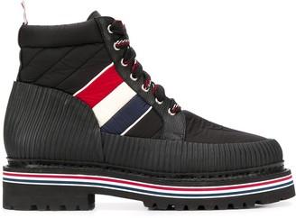 Thom Browne Terrain RWB striped ankle boots