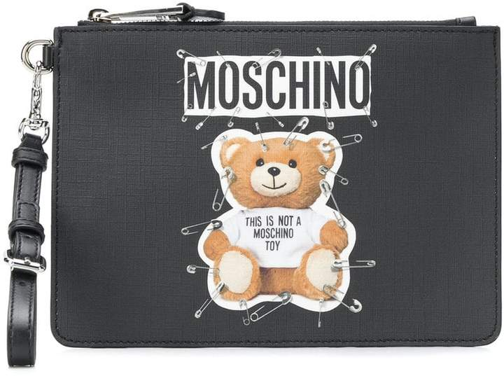 Moschino teddy bear print clutch