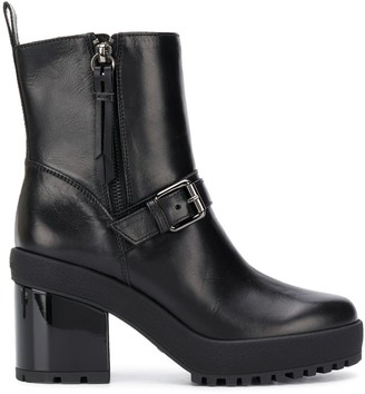 Hogan Buckled Ankle Boots