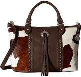 American West Cow Town Large Zip Top Convertible Satchel Satchel Handbags