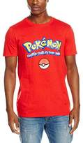Pokemon Men's Logo W/Slogan T-Shirt