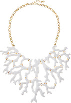 Kenneth Jay Lane Enamel Branch Bib Necklace