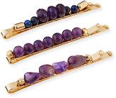 Berry Jewelry Beaded Bobby Pin Set, Purple