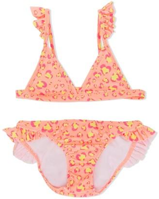 Sunuva Heart Print Ruffle Bikini