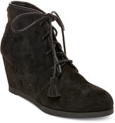 Madden-Girl Dally Lace-Up Wedge Booties