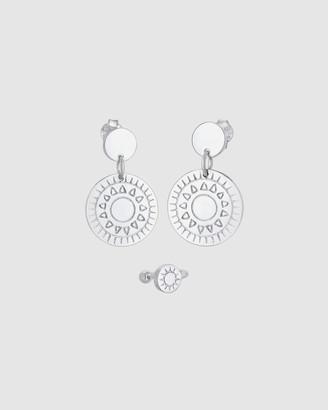 Elli Jewelry Earrings Set Ornament Earcuff in 925 Sterling Silver