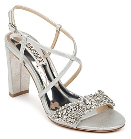 Badgley Mischka Women's Carolyn Ii Crystal Strap High Heel Sandals