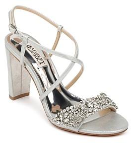 Badgley Mischka Women's Carolyn Ii Crystal Strap High Heel Sandals