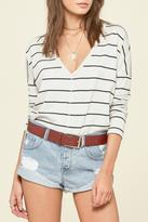 Amuse Society Striped Long Sleeve Top
