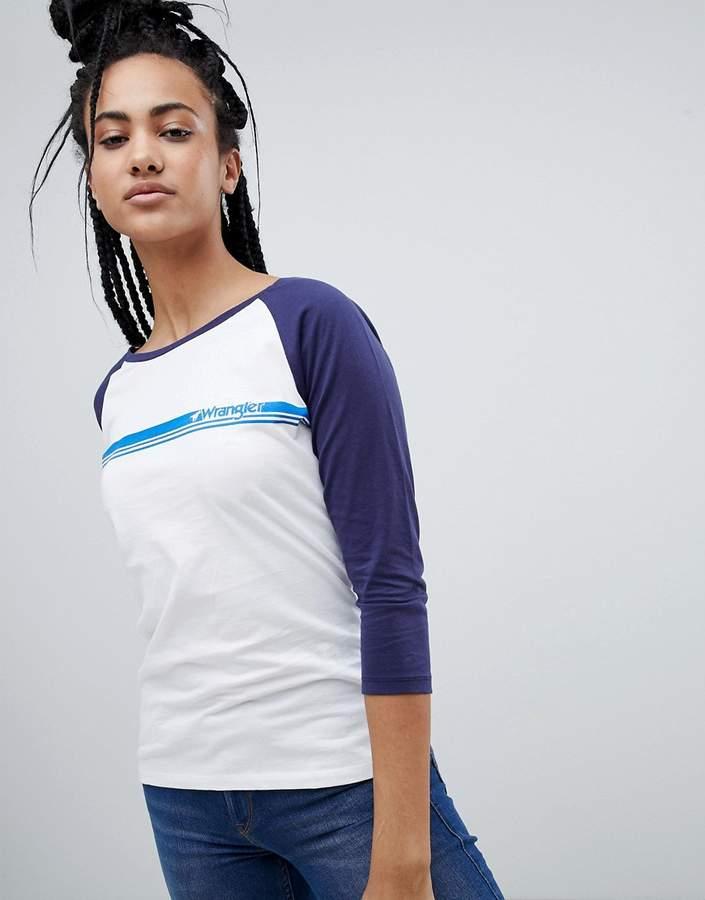Wrangler Logo Raglan Baseball T-Shirt