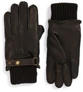 Men's John W. Nordstrom Knit Cuff Leather Gloves