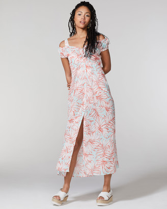 Vince Camuto Leaf-Print Cover-Up Dress