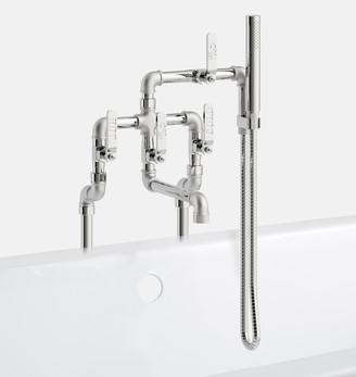 Rejuvenation Elan Vital Floor Mounted Tub Filler With Hand Shower