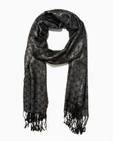 Charming charlie Shimmery Leopard Print Long Scarf