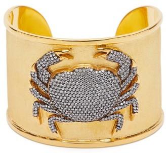 BEGÜM KHAN Crystal-crab 24kt Gold-plated Cuff - Gold