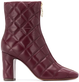 L'Autre Chose Quilted Zipped Ankle Boots