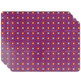 uneekee Floors Of Barcelona Placemat Set of 4 Vinyl Easy Clean Heat Insulation Stain-resistant