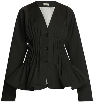 Nina Ricci Collarless Peplum Jacket