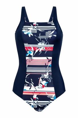 Amoena Women's Capri Full-Bodice Pocketed Mastectomy Swimsuit