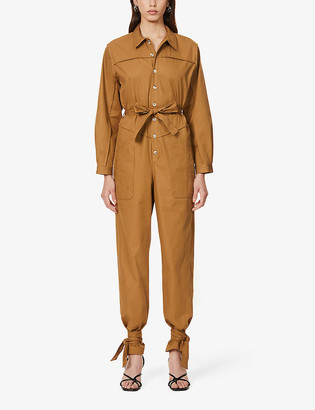 BA&SH Chris belted twill jumpsuit