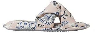 Dearfoams Women's Twist Vamp Slide Slippers