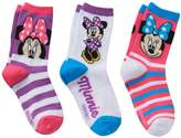 Disney Disney's Minnie Mouse Girls 4-6x 3-pk. Crew Socks Gift Box