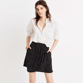 Madewell Silk Faux-Wrap Skirt in Dot Scatter