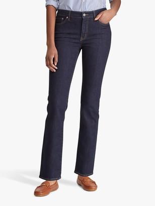 Ralph Lauren Ralph Premier Mid Rise Straight Leg Jeans, Dark Rinse Wash Denim
