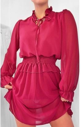 Ikrush Dionne Frill Mini Dress