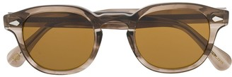 MOSCOT Round Frame Abstract Print Sunglasses