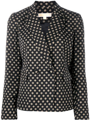 MICHAEL Michael Kors Geometric Embroidered Blazer