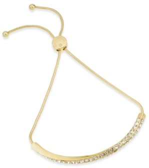 Charter Club Gold-Tone Pave Twist Bar Slider Bracelet, Created for Macy's