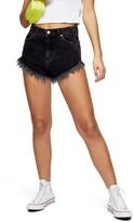 Topshop Kiri Frayed Denim Shorts