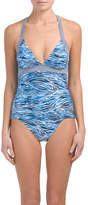 2pc Ink Skin Halter Tankini Set