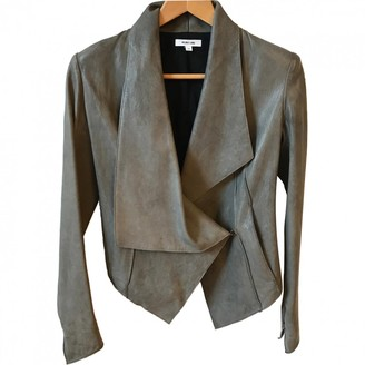 Helmut Lang Grey Leather Jacket for Women