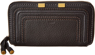 Chloé Marcie Long Leather Zip Around Wallet