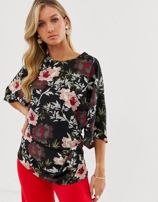 AX Paris floral 3/4 sleeve blouse