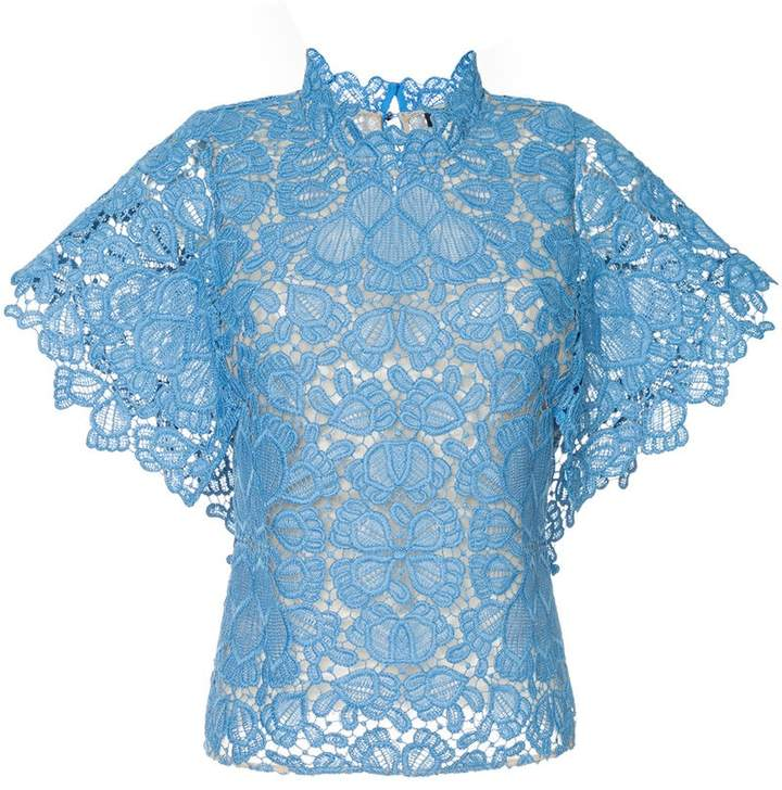 Ginger & Smart floral lace shortsleeved top