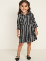 Old Navy Printed Cinch-Waist Shirt Dress for Toddler Girls