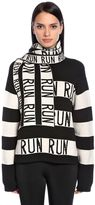 Sportmax Run Stripes Stretch Wool Scarf