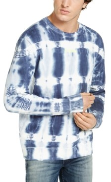 GUESS Men's Oversized Tie Dye Long-Sleeve T-Shirt