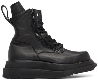Julius Black Wide Sole Combat Boots