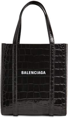 Balenciaga XXS EVERY DAY CROC EMBOSSED LEATHER TOTE