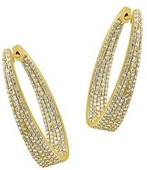 Bloomingdale's Diamond Inside-Out Oval Hoop Earrings in 14K Yellow Gold, 2.30 ct. t.w. - 100% Exclusive