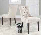 Safavieh En Vogue Dining Abby Beige Linen Nailhead Side Chairs (Set of 2)