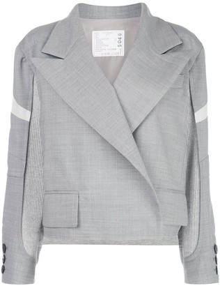 Sacai Suiting Patchwork Jacket