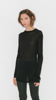 Rick Owens Long Sleeve Crew Neck Tee