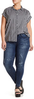 Melissa McCarthy Distressed Pencil Jean (Plus Size)